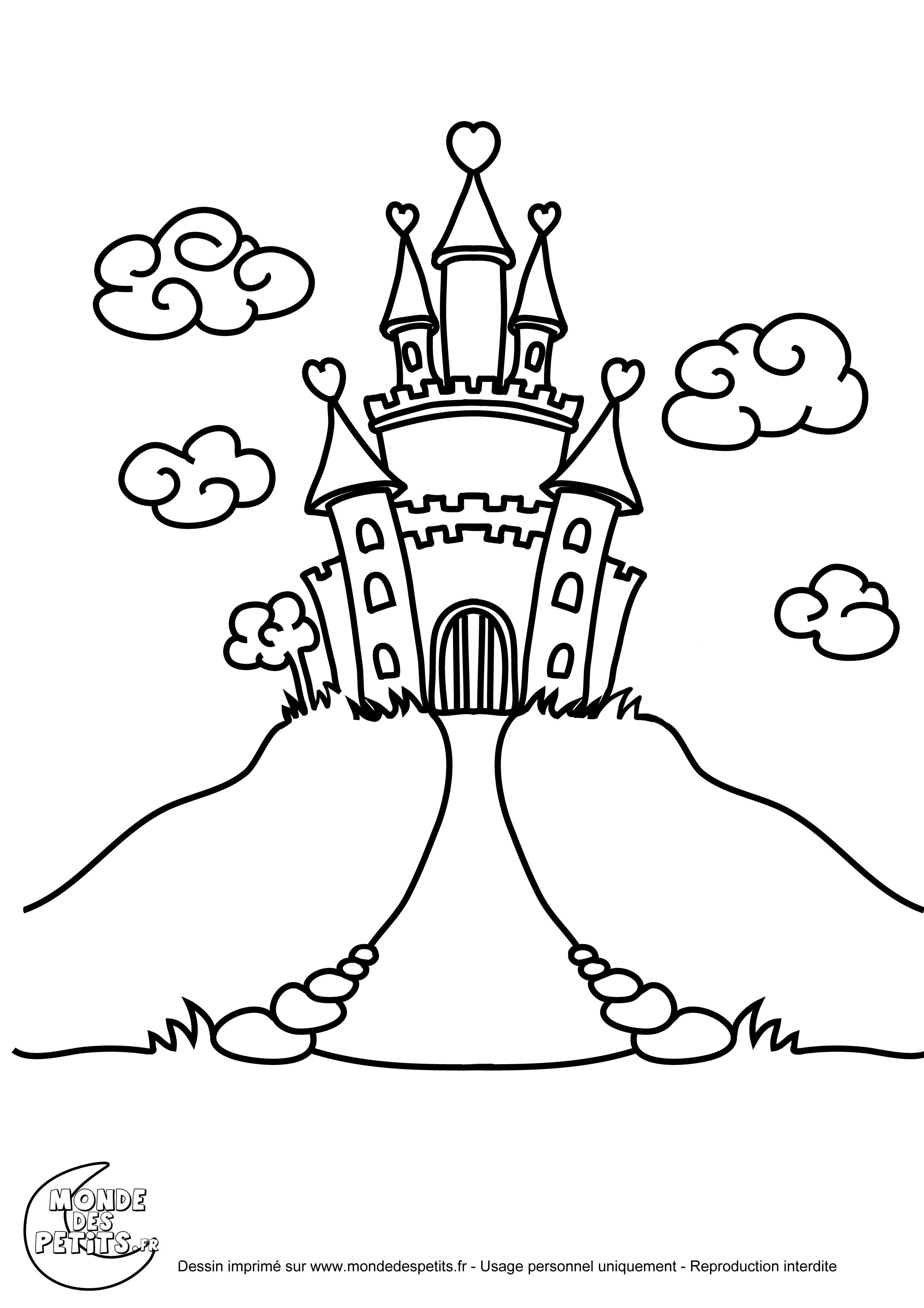 Chateau de princesse disney - Chateau coloriage ...