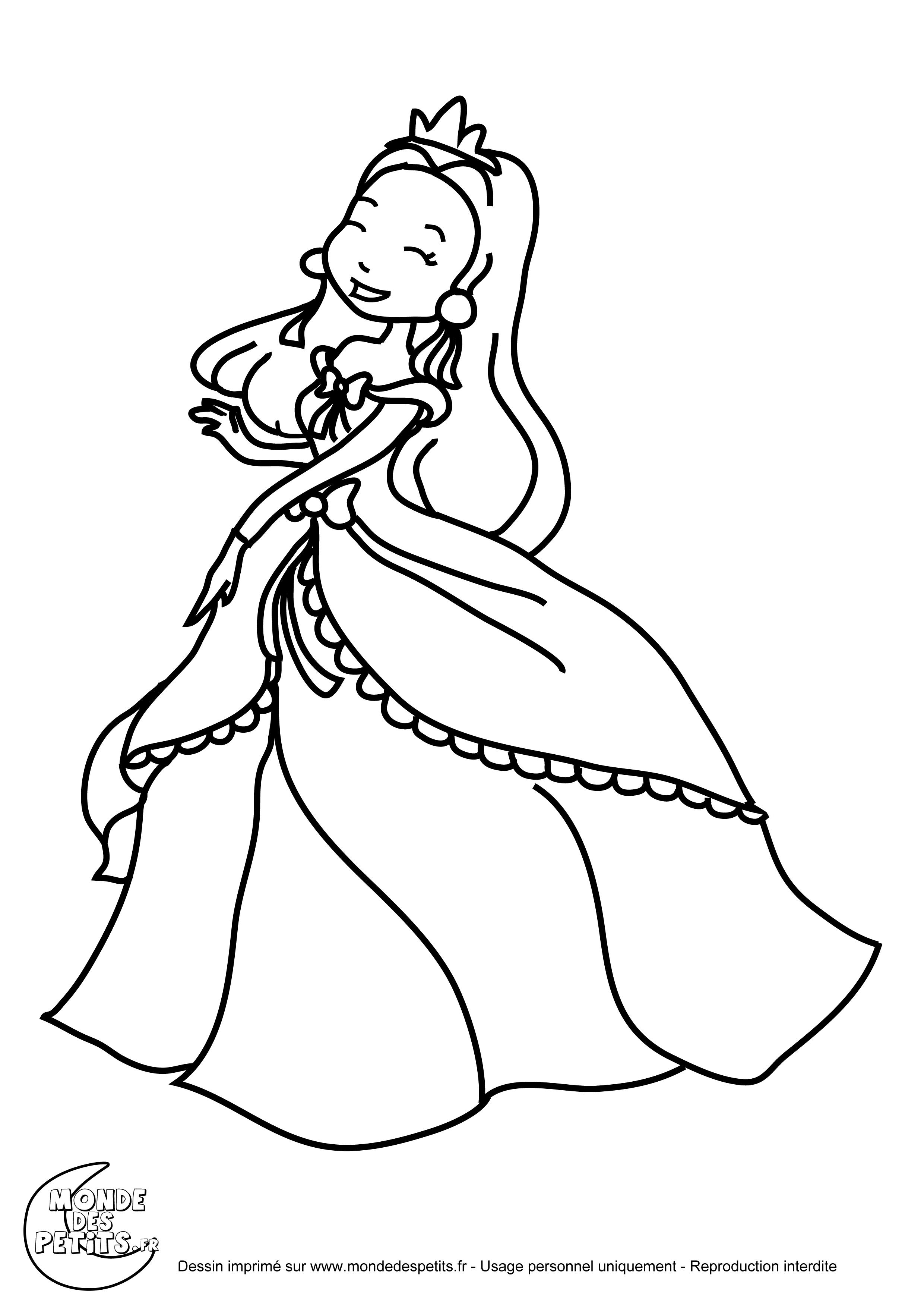 Inspirant Dessin A Colorier A Imprimer De Princesse