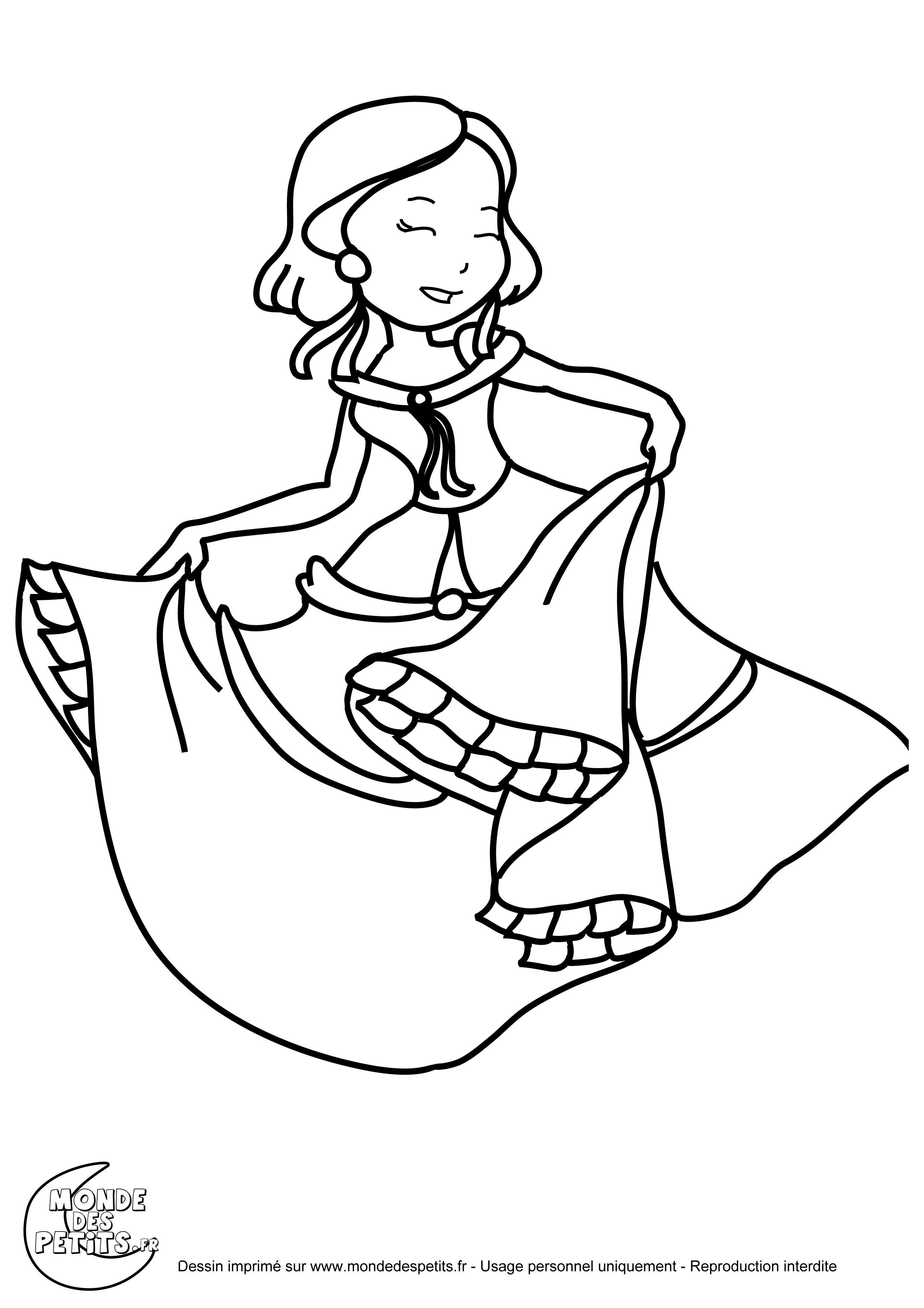 Coloriage Princesse Danse.Monde Des Petits Coloriages A Imprimer