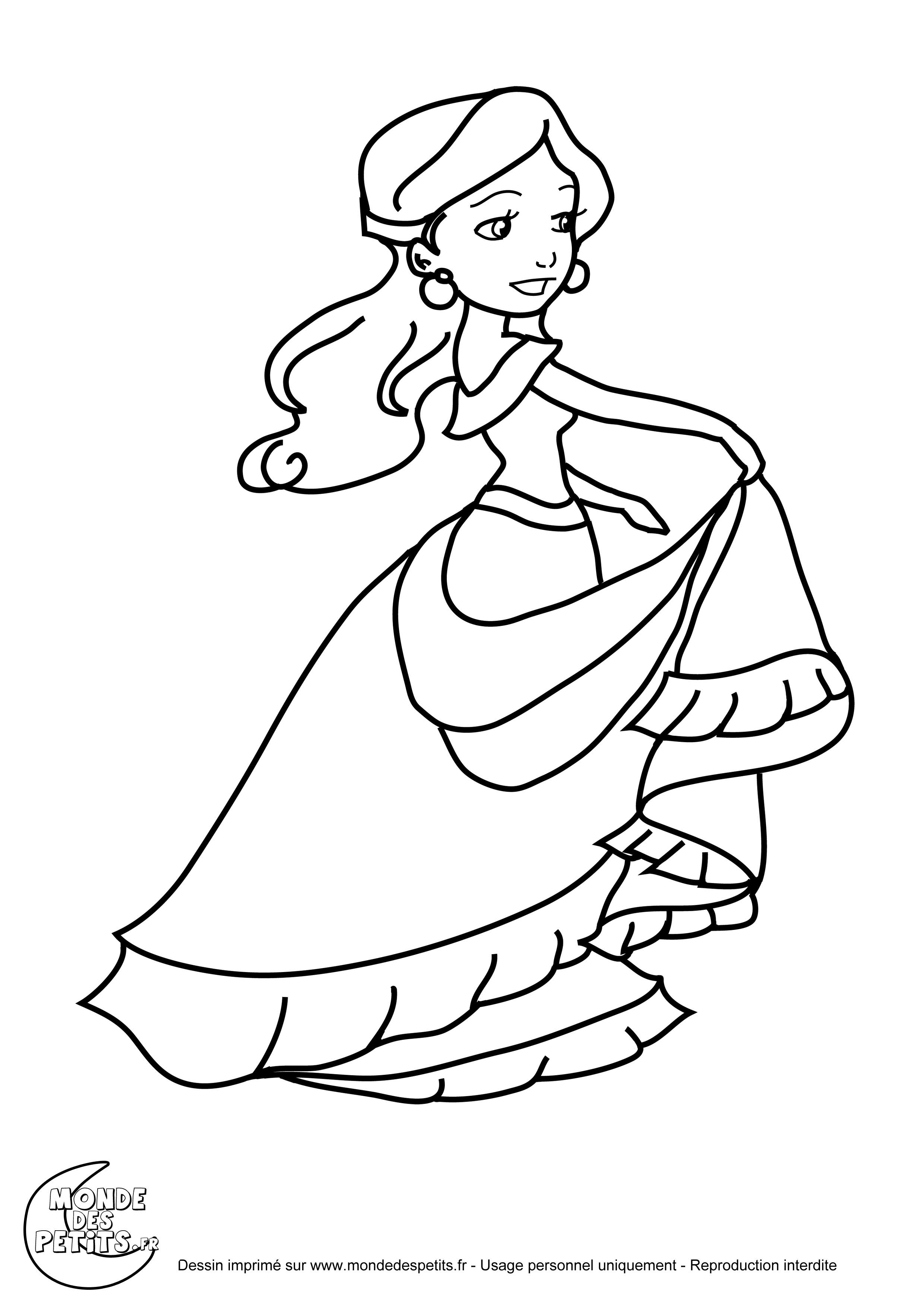 Monde des petits coloriages imprimer - Dessins princesse ...