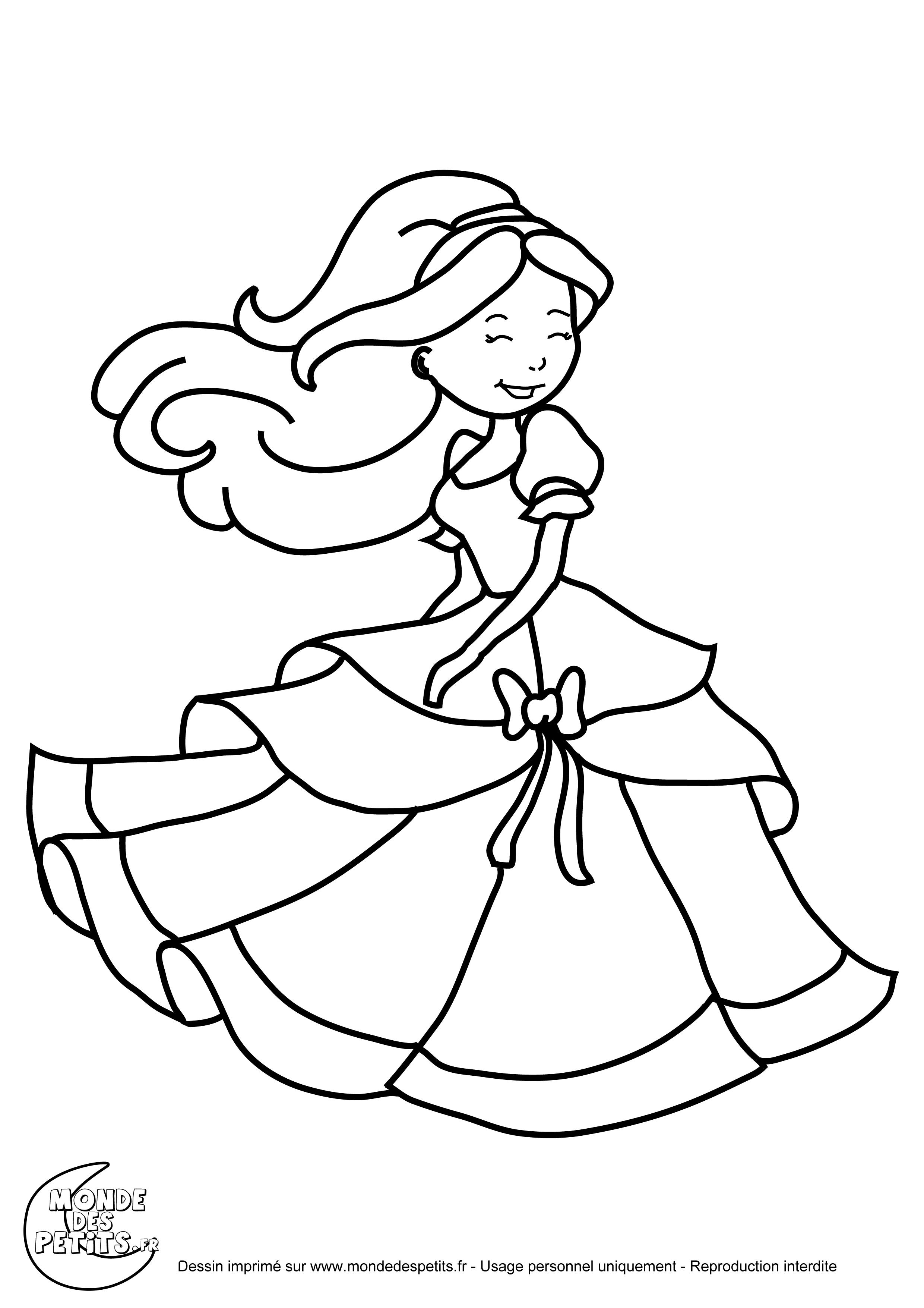 Monde des petits coloriages imprimer - Image de princesse ...