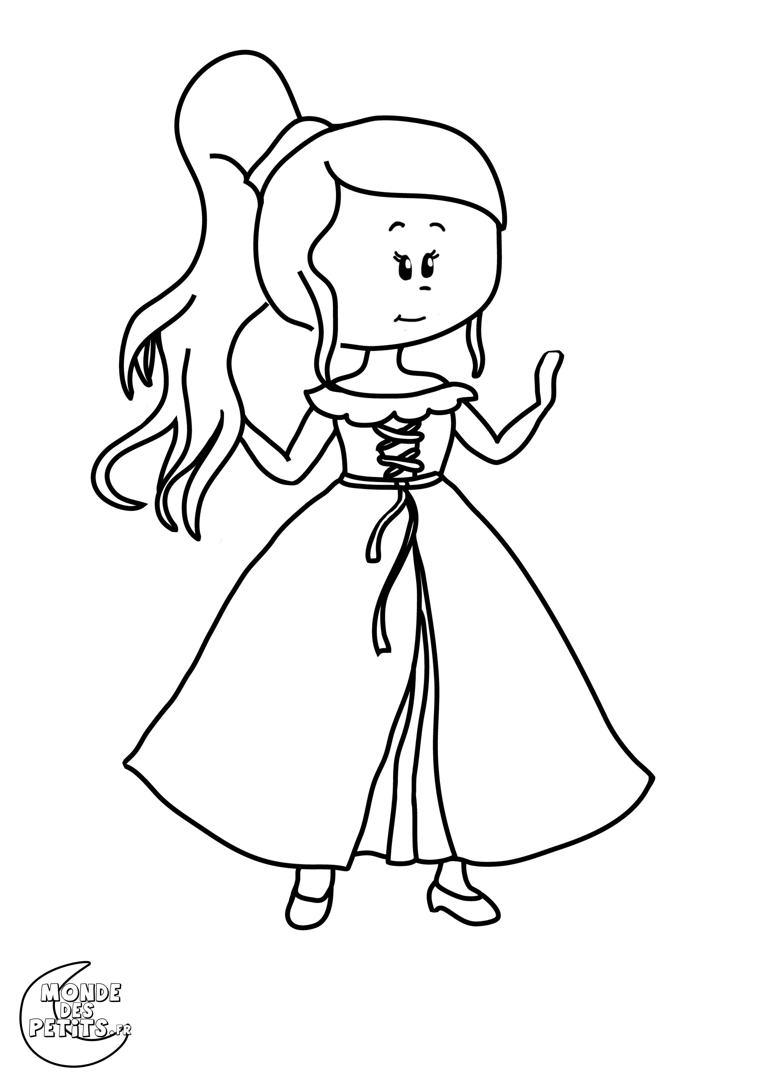 Monde des petits coloriages imprimer - Princesse dessin facile ...