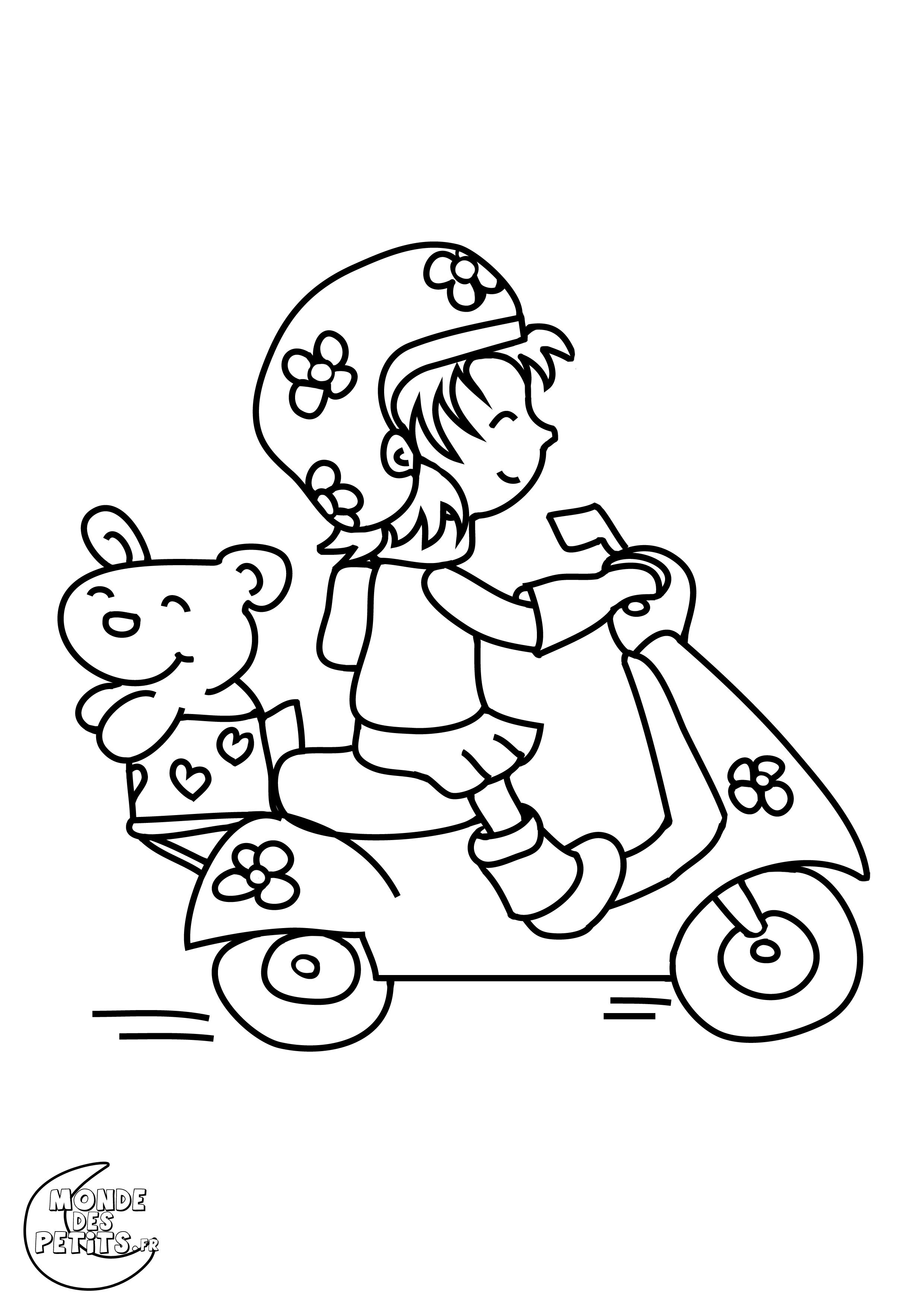 Monde des petits coloriages imprimer - Coloriage de moto ...