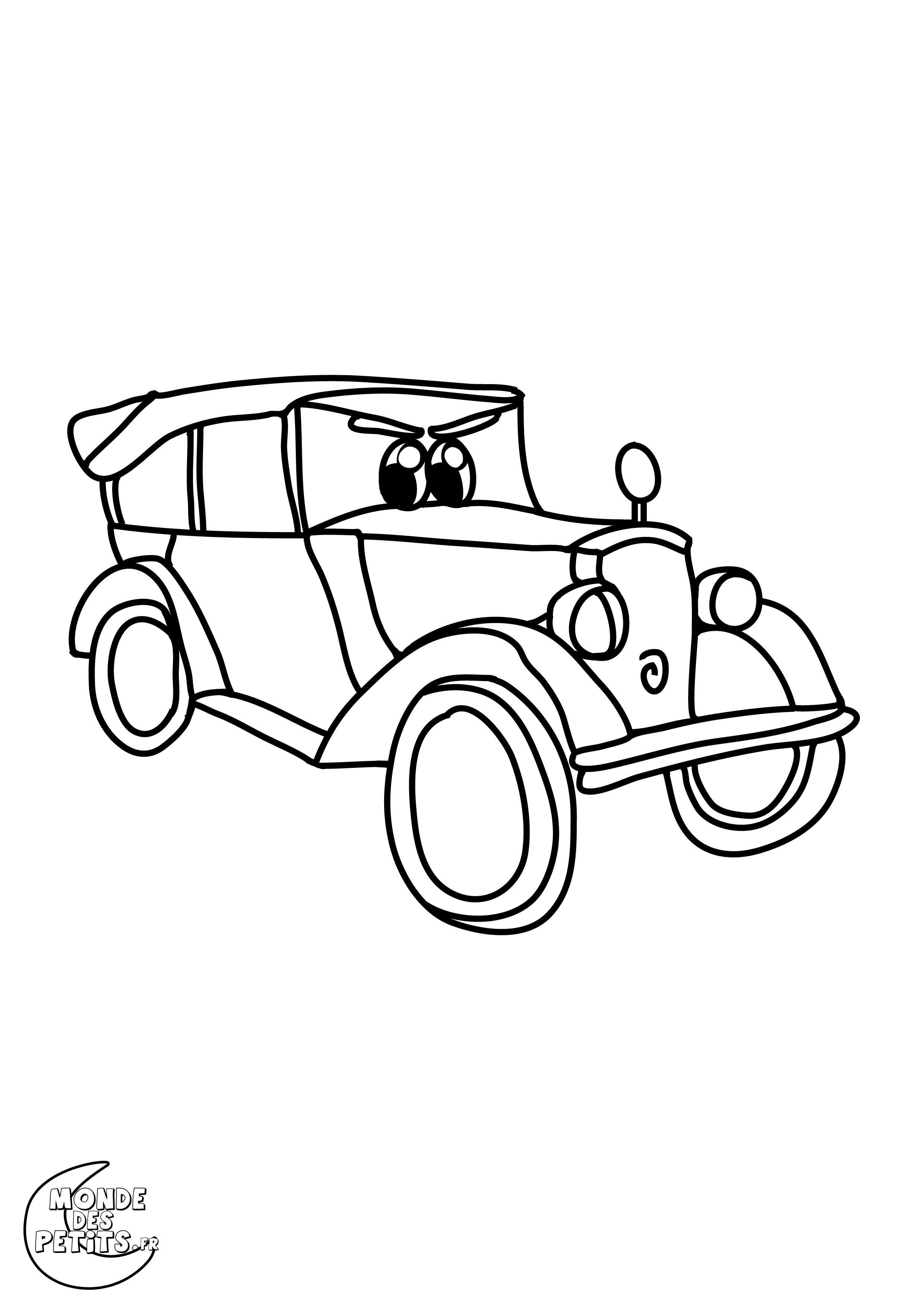 Monde des petits coloriages imprimer - Dessin a colorier de voiture ...