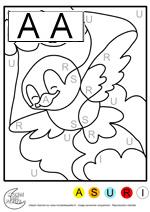 Coloriage Magique Oiseau.Coloriages Magiques L Alphabet L Oiseau