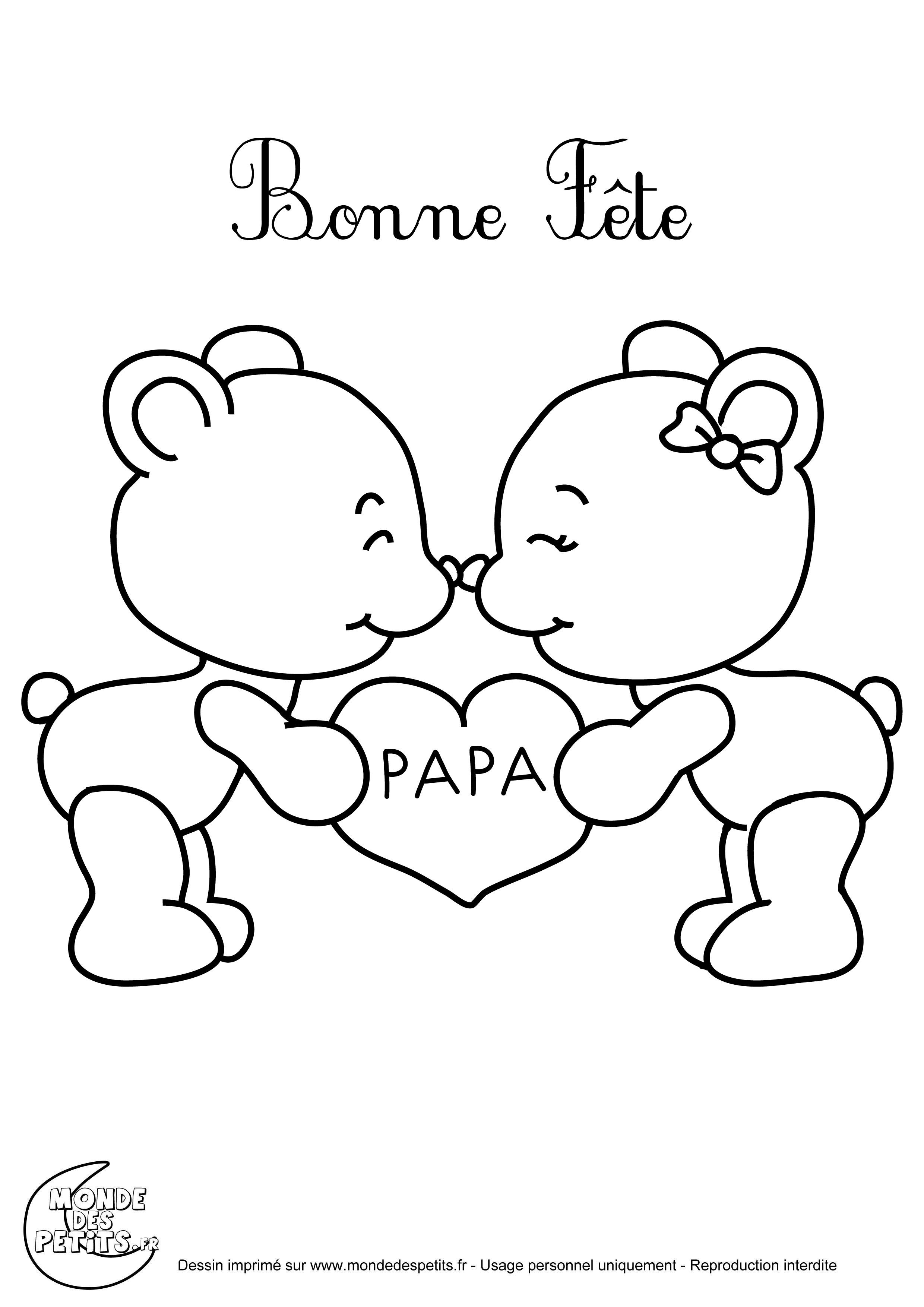 Belle Coloriage Bonne Fete Papa A Imprimer Gratuit Des