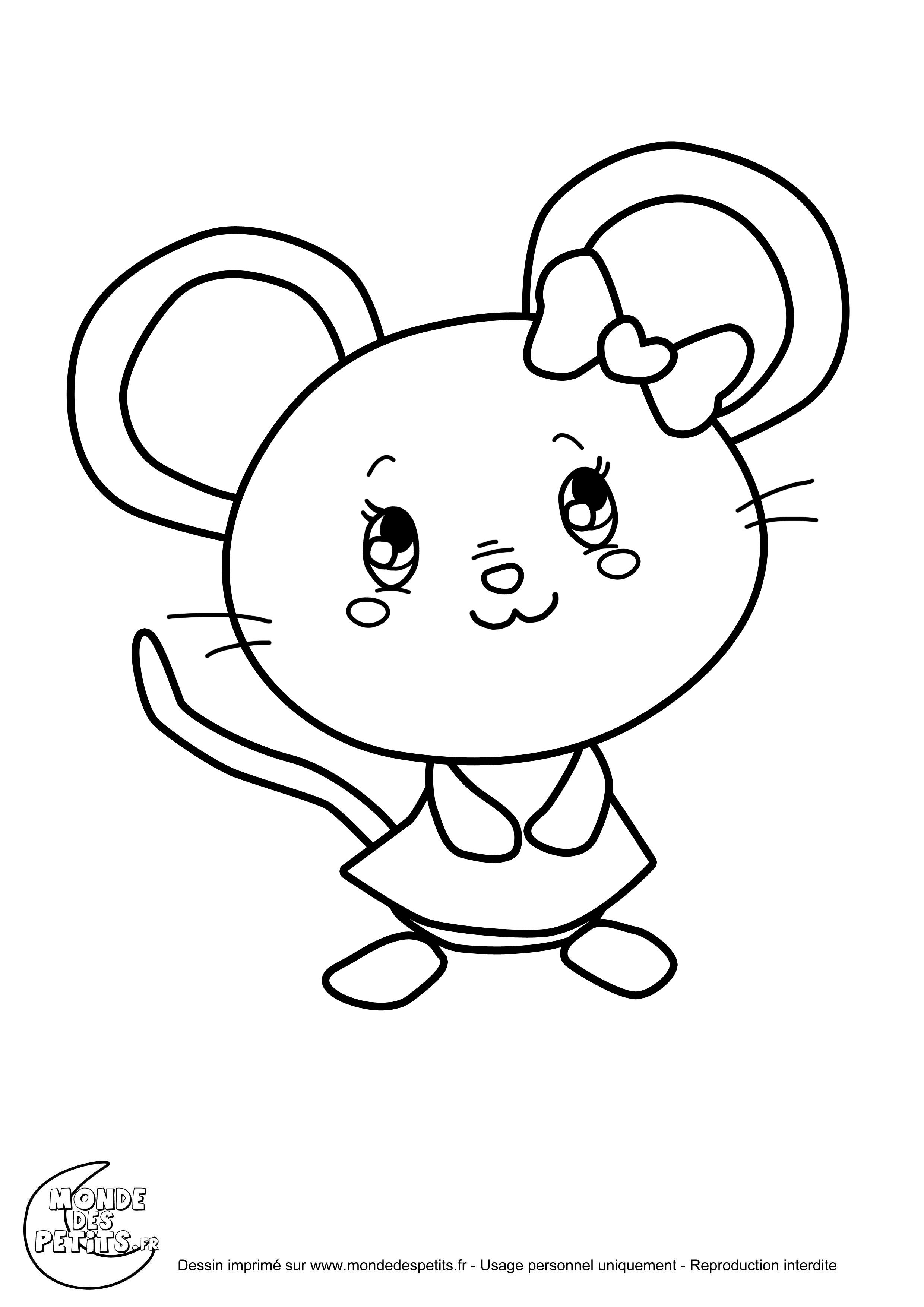 Monde des petits coloriages imprimer - Dessin de petite souris ...
