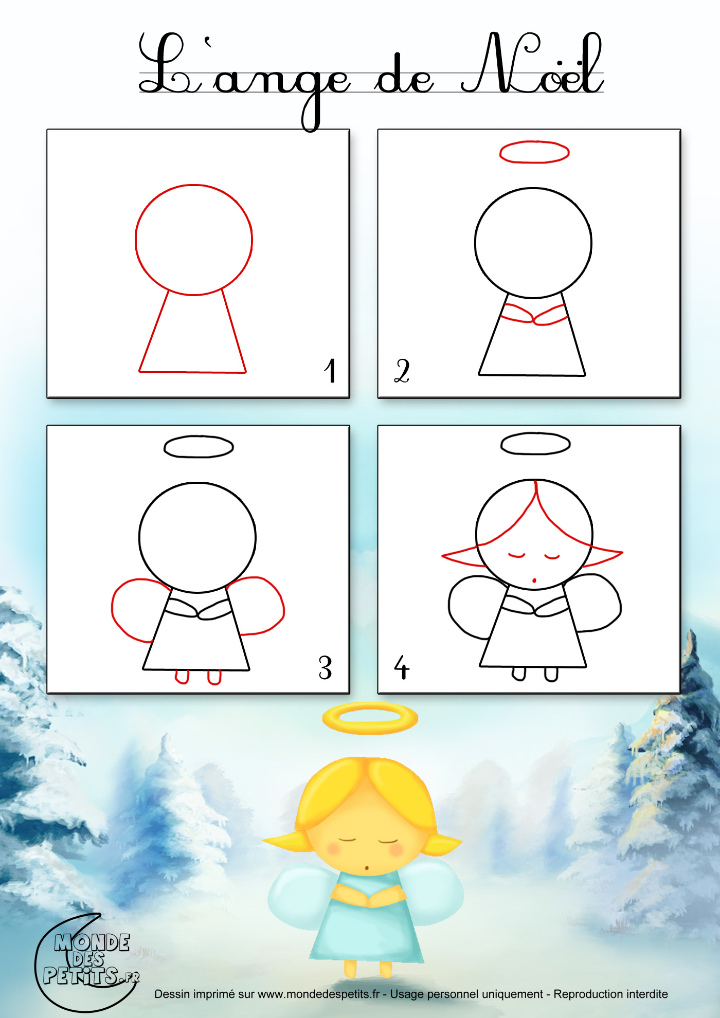 1000 images about how to draw comment dessiner on - Creation de noel pour tout petit ...