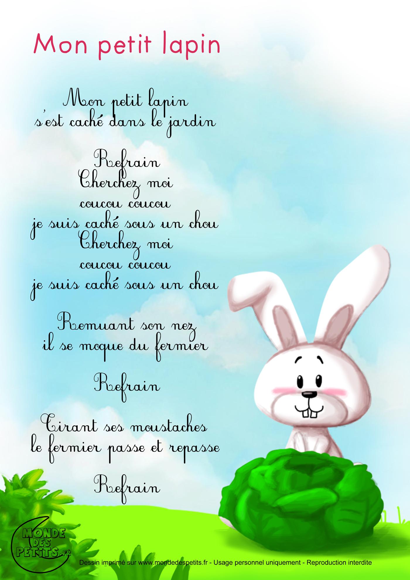 Monde des petits Mon petit lapin