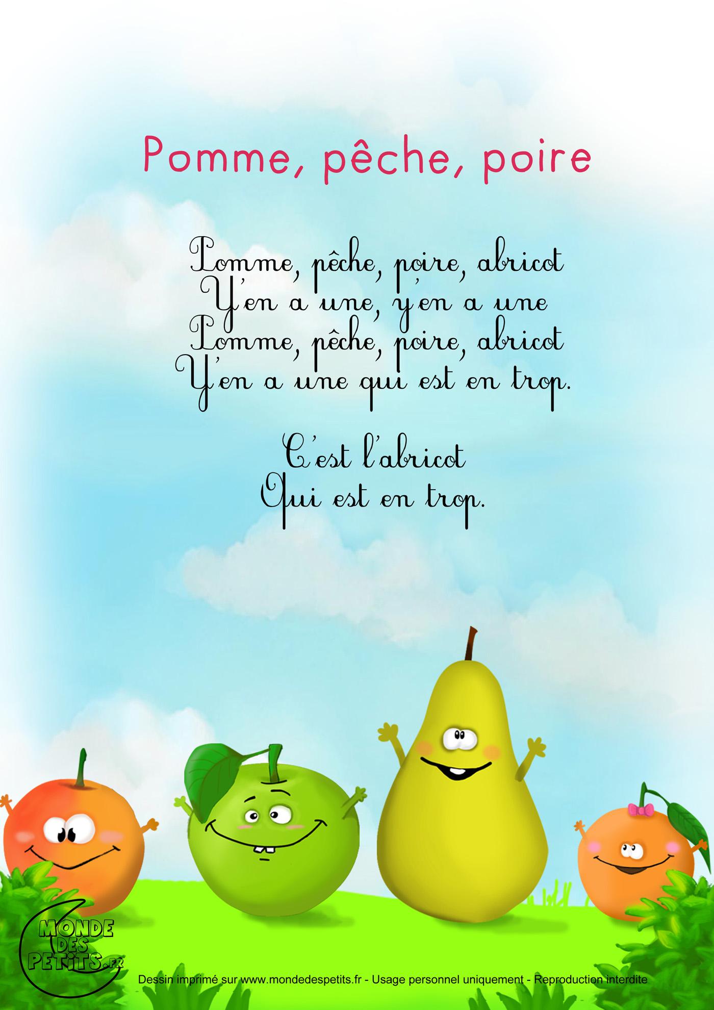Pomme, pêche, poire, abricot 1