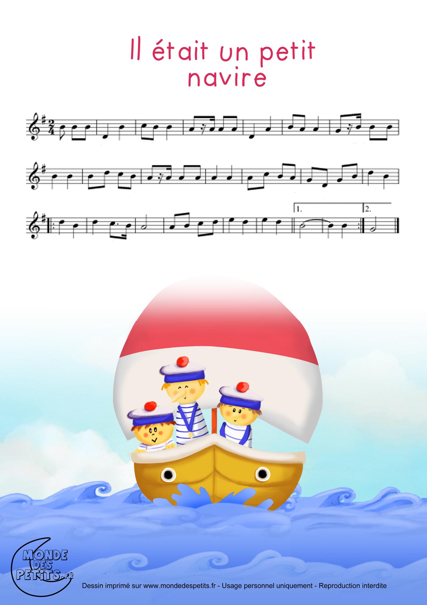 parole chanson un petit navire