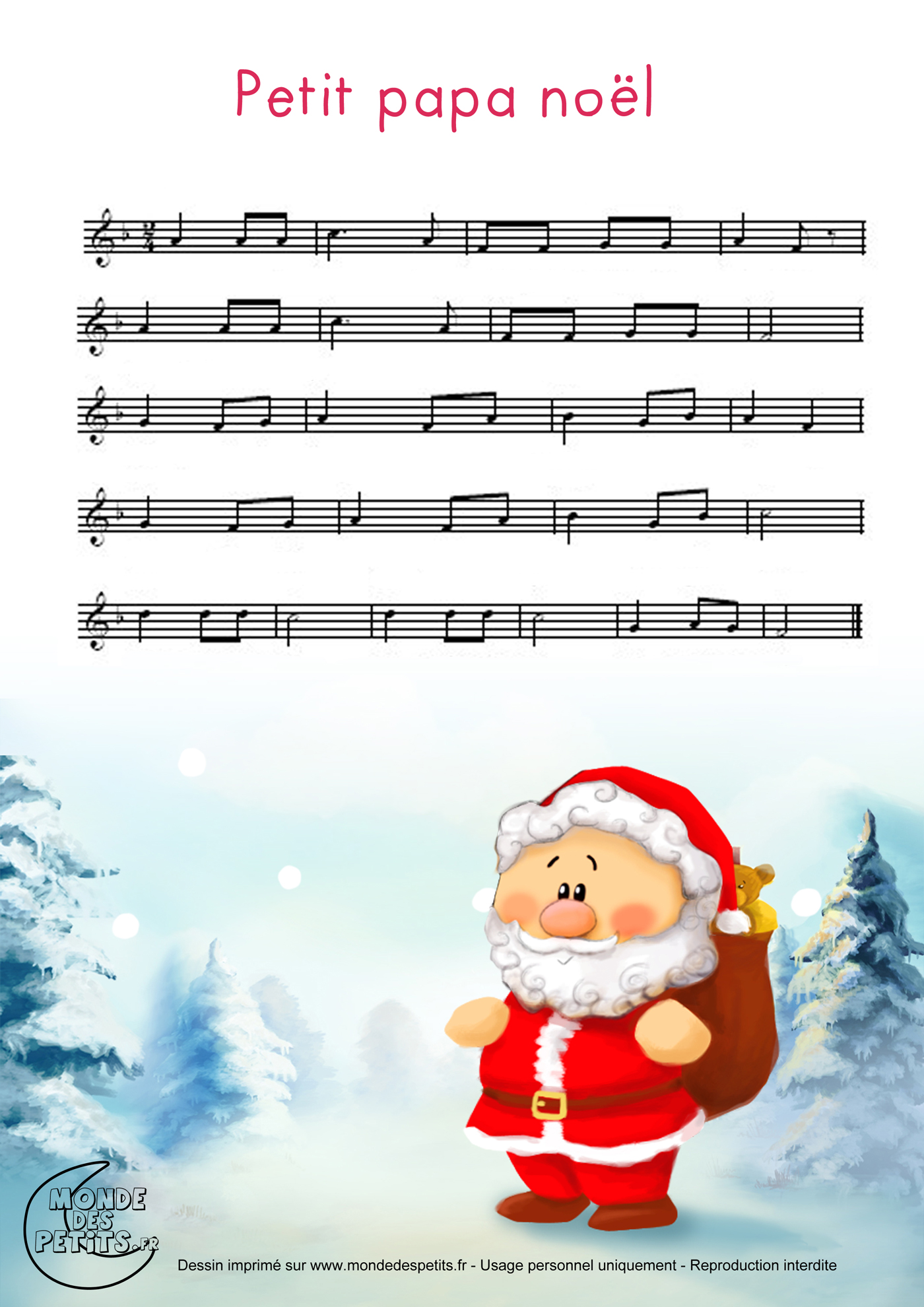 Monde Des Petits Petit Papa Noël