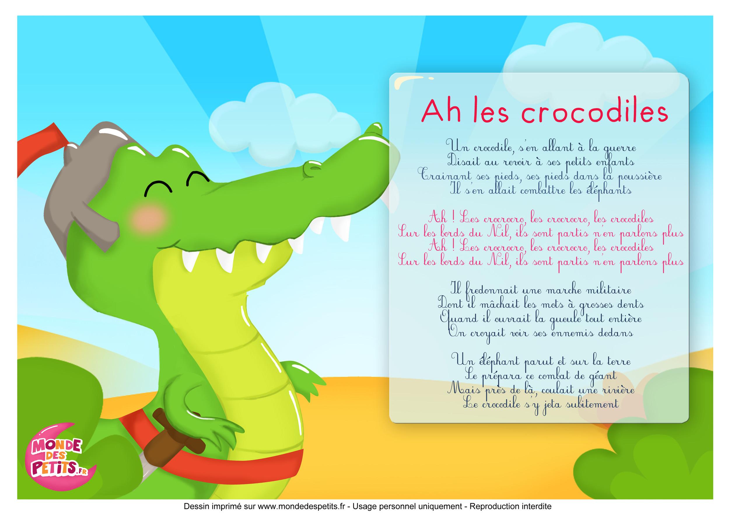 Monde des petits ah les crocodiles - Dessin anime les crocodiles ...