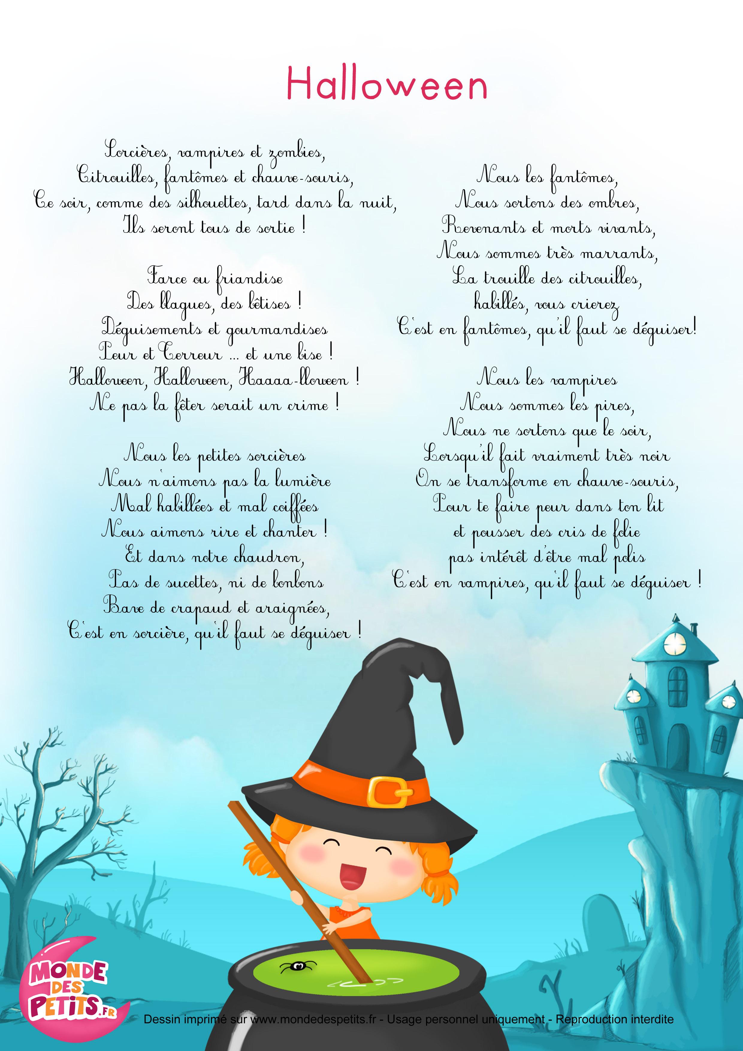 Monde des petits halloween chanson pour enfants - Faire une araignee pour halloween ...