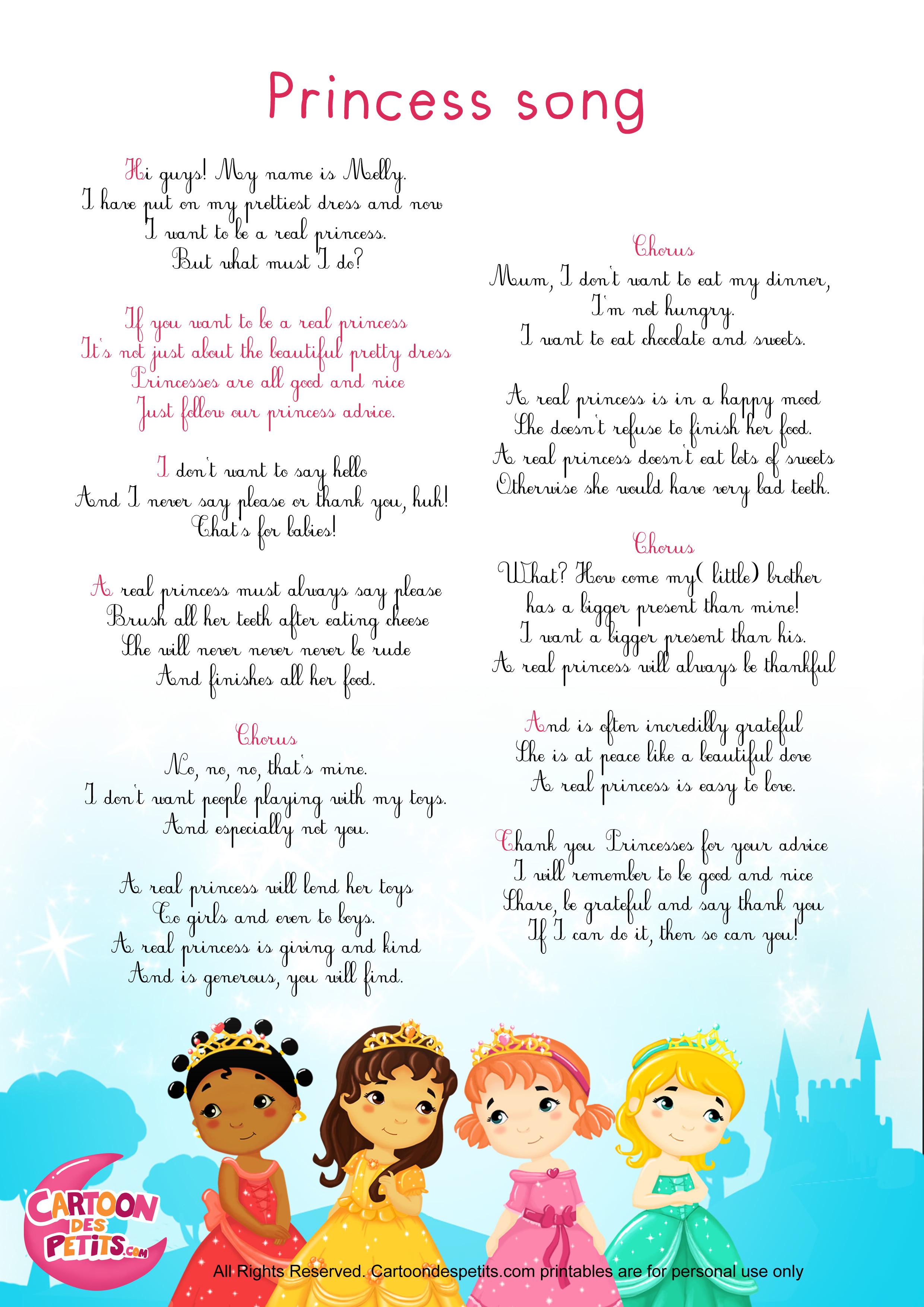 Princesses (Anglais)