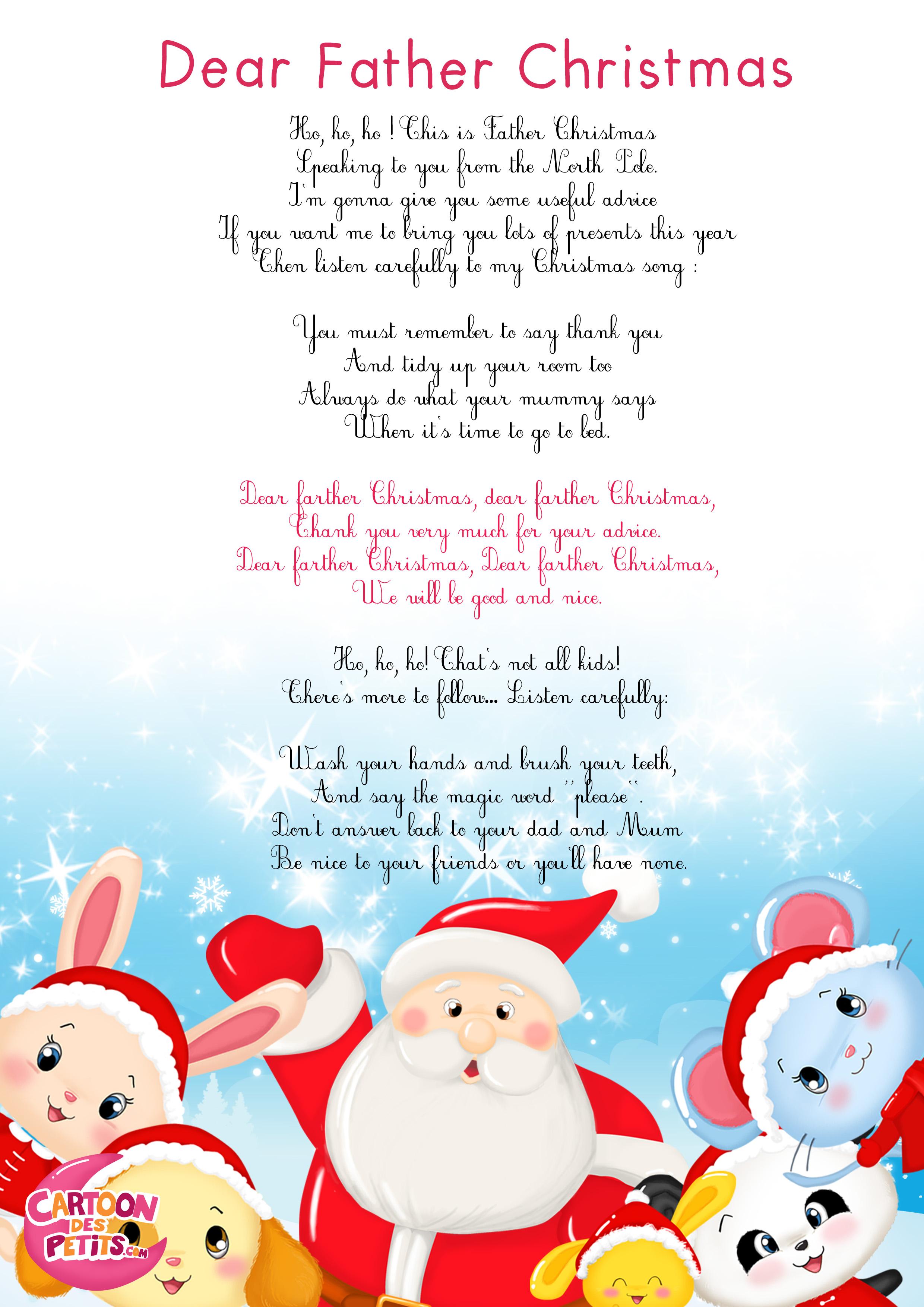Santa Claus Song (Anglais)