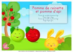 Monde des petits pomme de reinette et pomme d 39 api titounis - Pomme de reinette et pomme d api tapis tapis rouge ...