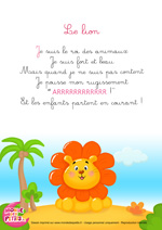 Paroles_La comptinette du lion