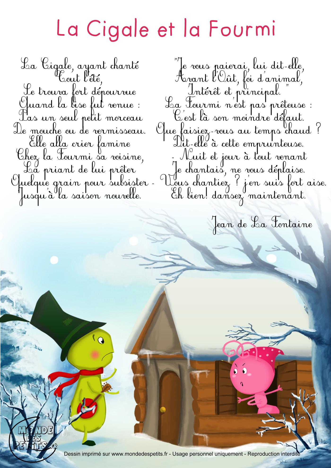 Tics En Fle Les Fables De La Fontaine Regardez Ecoutez