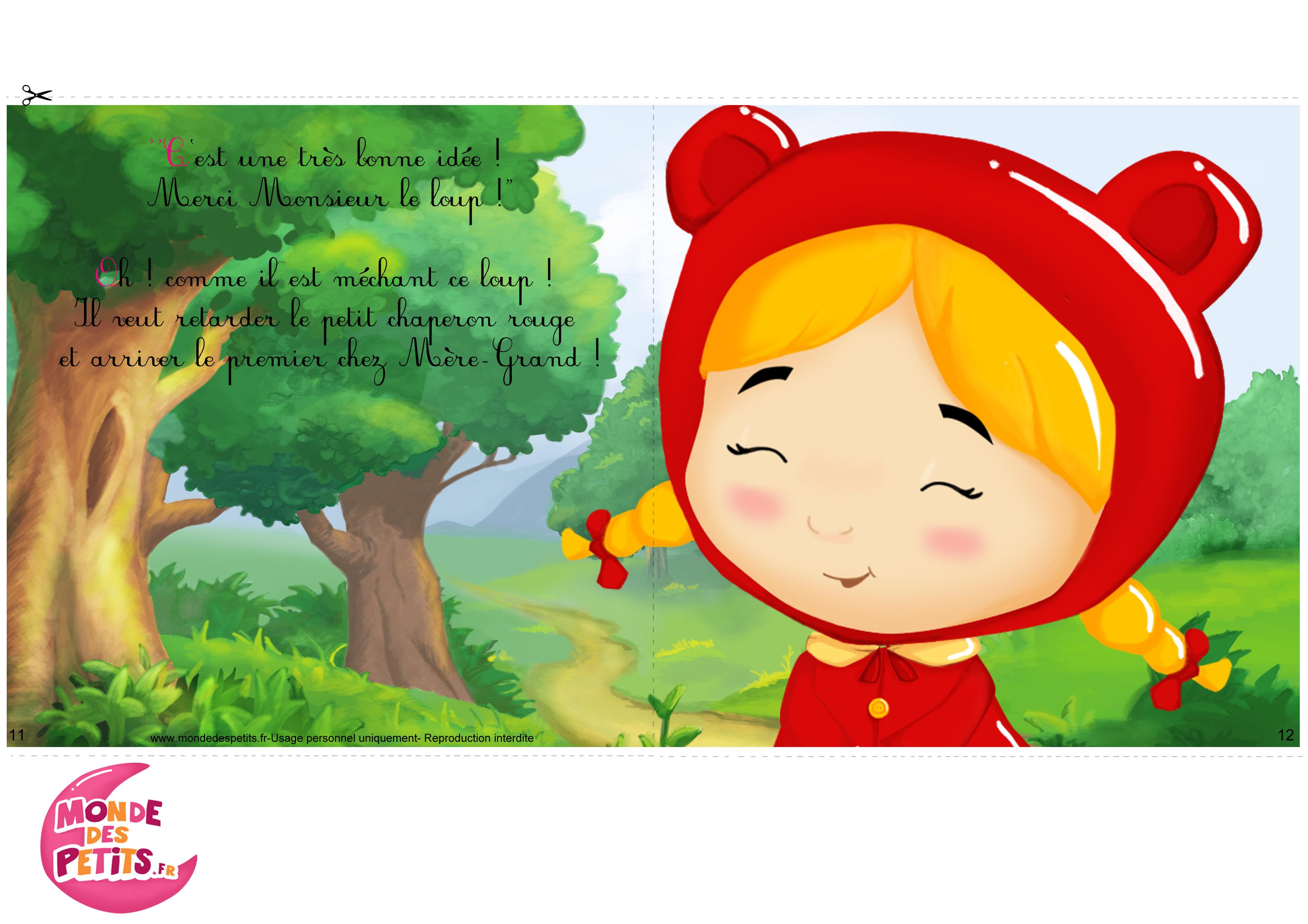 Monde des petits imprimer - Dessin petit chaperon rouge ...