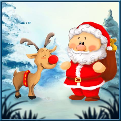 Jeu de taquin: Père Noël