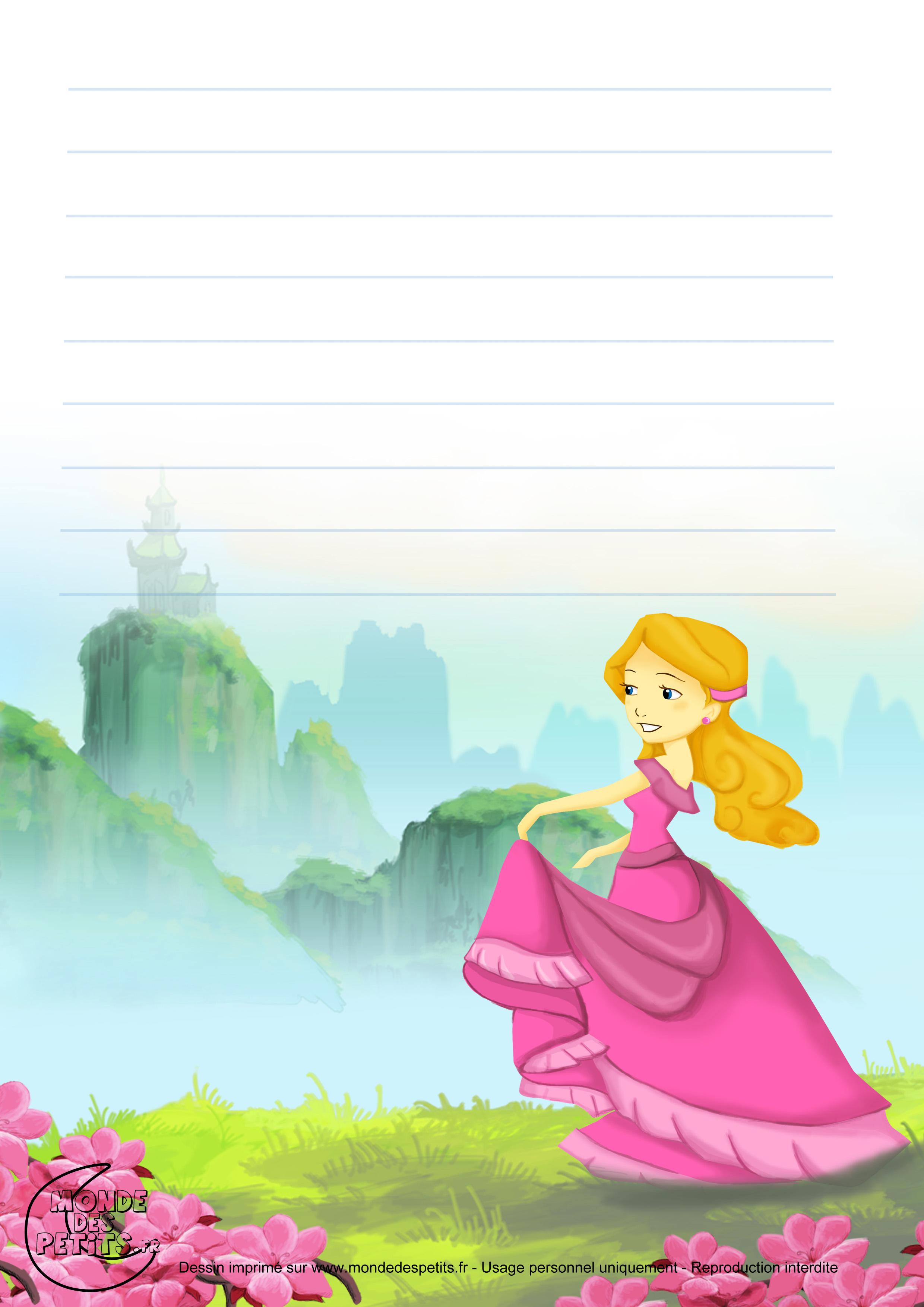 Monde des petits Papier à lettre