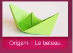 Origami: la bateau en papier
