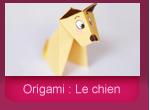 Origami: le chien en papier plié