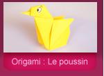 Origami: le poussin en papier plié