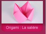 Origami: la salière ou le quizz de la cocotte
