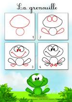 Comment dessiner une grenouille facile - Dessiner un loup facilement maternelle ...
