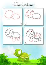 Monde des petits tutoriel vid o - Comment dessiner une tortue ...