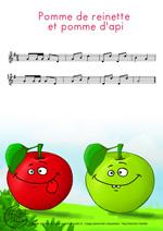 Monde des petits pomme de reinette et pomme d 39 api - Pomme de reinette et pomme d api tapis tapis rouge ...